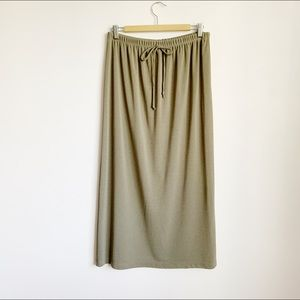 stretchy high waist taupe/brown 1990s maxi